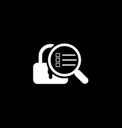 Security scan icon flat design vector