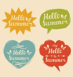 set say hello to summer vector image