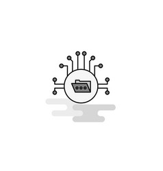shared folder web icon flat line filled gray icon vector image