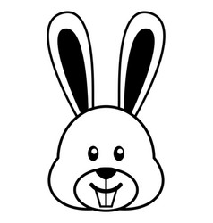 simple cartoon a cute rabbit vector image