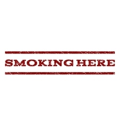 Smoking Here Watermark Stamp vector image