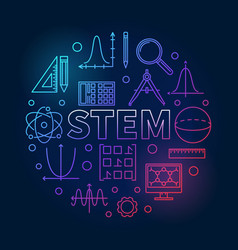 Stem round colored in outline vector