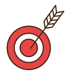 Target with arrow isolated flat icon vector