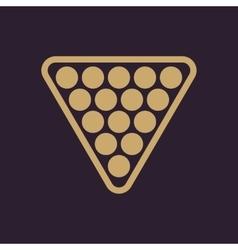 The billiard icon Billiards symbol Flat vector