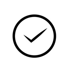 tick isolated linear icon for websites vector image
