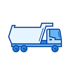 tipper truck line icon vector image