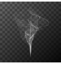 Transparent white smoke object vector