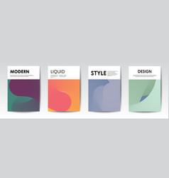 Trendy liquid design template for document cover vector