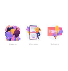 Website menu bar concept metaphors vector