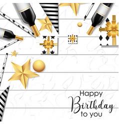 white happy birthday background vector image