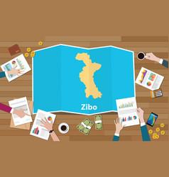 Zibo shandong province china city region economy vector
