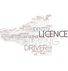 Driving licence word cloud concept vector