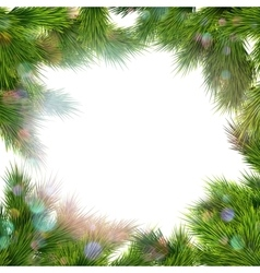 Frame of tree branches EPS 10 vector image