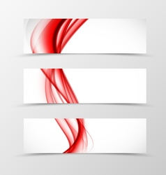 Set of header banner wave design vector image vector image