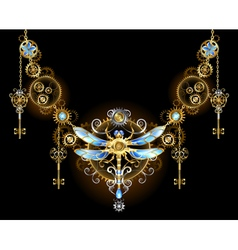 Symmetric Ornament with Dragonfly vector image vector image