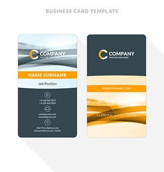 Vertical double sided business card template with vector image vertical double sided business card template with vector image vector image flashek Gallery