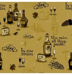 Wine still life monochrome vector image