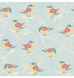 Background with birds vector image