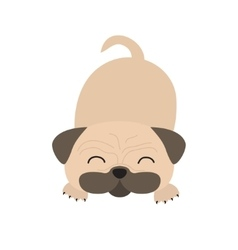 Pug dog mops Cute cartoon character Flat design vector image