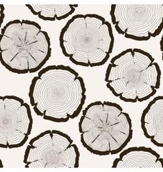 Tree rings cut trunk seamless pattern vector