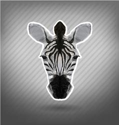 Abstract triangle polygonal zebra origami vector