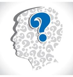 Big question mark in head vector