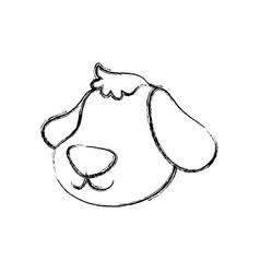 Dog cartoon drawing head faceless vector