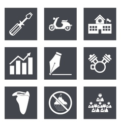 Icons for Web Design set 12 vector image