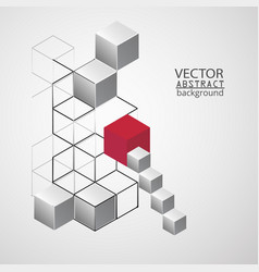abstract geometry cube vector image