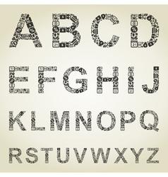 Alphabet business vector image