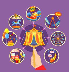 amusement park collection vector image