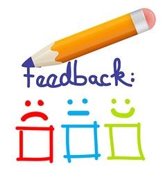 Feedback Icon with Pencil vector image