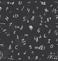 letter drawing on a blackboard vector image