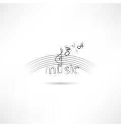 Listen to melody vector image vector image