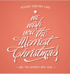 Retro vintage christmas greeting card vector image