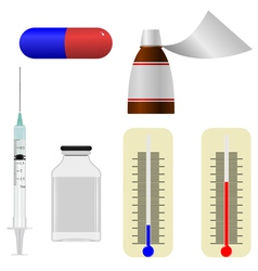 set of s of medical items vector image vector image