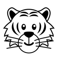 simple cartoon of a cute tiger vector image vector image
