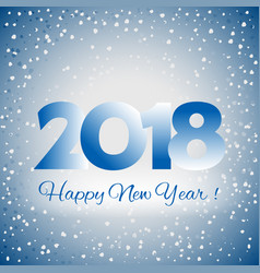 2018 happy new year background vector image