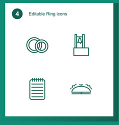4 ring icons vector