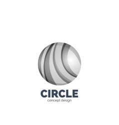 abstract circle logo vector image