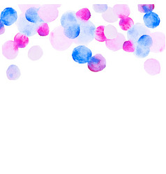 Abstract colorfull handdrawn watercolor background vector