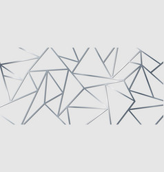 abstract silver metallic join lines on white vector image