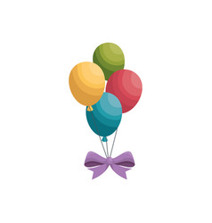 air balloons isolated vector image