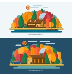 Autumn landscape vector