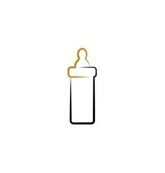 babottle icon logo element vector image