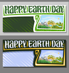 Banners for earth day vector