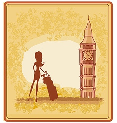 Beautiful woman in London vector image