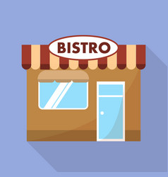 bistro street shop icon flat style vector image