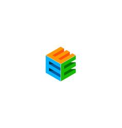 box letter e logo icon design vector image