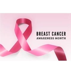 Breast cancer awareness symbol vector